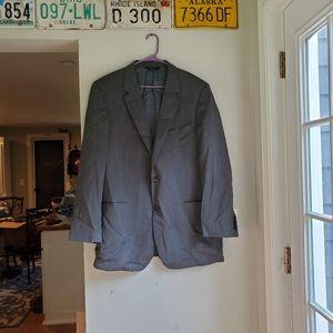 Jos A Bank wool suit blazer xl 46 dark gray suit